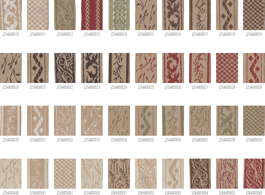 Decorative cloth tapes, woven prints & patterns, cloth ladder tapes